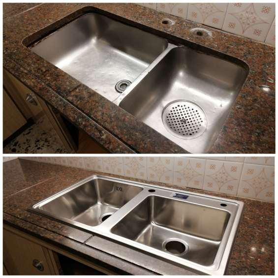 Pegado de bachas de cocina a domicilio en buenos aires, 1562710460