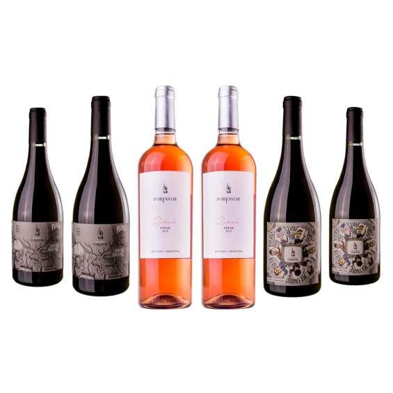 Vino mix malbec por favor reserva 2016 rosé 2018 joven 2018