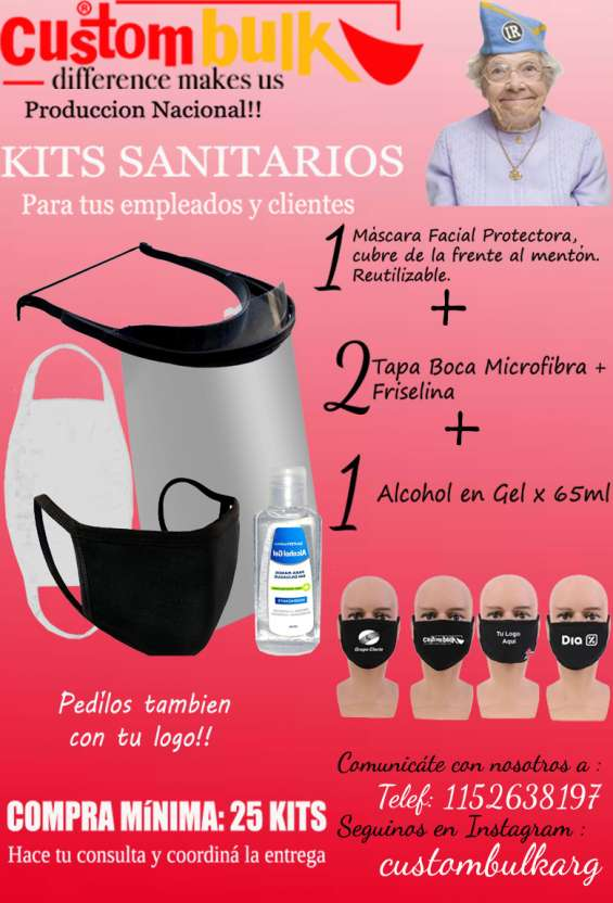 Lote x 100 unidades - mascaras protectoras covid19