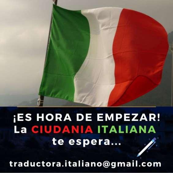 Traductora publica italiano - ciudadania italiana en el día