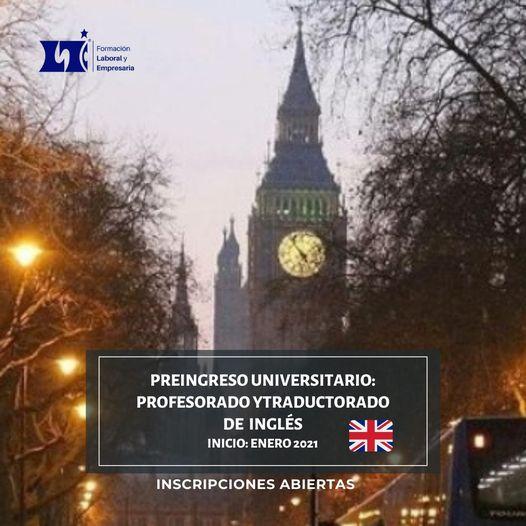 Curso preuniversitario ingles (examen de ingreso facultad de lenguas)