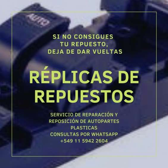 Nuevo servicio - reparación o replicación de partes plásticas -