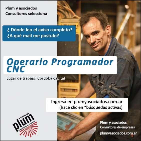 Operario programador cnc. matricero